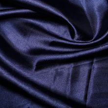 Navy Satin High Sheen Fabric 0.5m